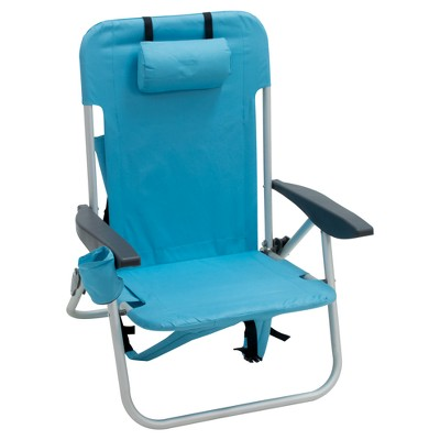 Low Folding Backpack Chair - Turquoise - Room Essentials™