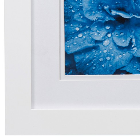 Single Image 8X8 Wide Double Mat White 5X5 Frame - Gallery Solutions ...