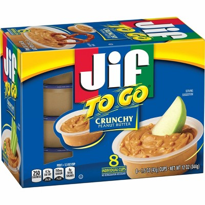 Jif Crunchy Peanut Butter To Go 12oz 8ct