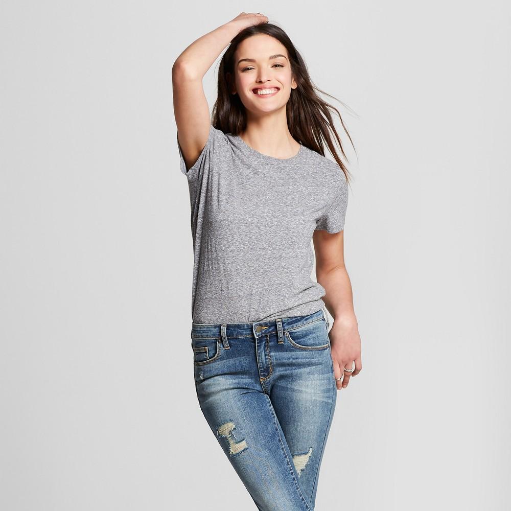 Women's Meriwether Crew Neck Short Sleeve T-Shirt - Universal Thread Gray XS