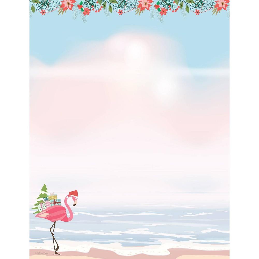 Image of 80ct Merry Flamingo Letterhead