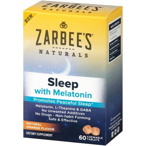 Zarbee's Naturals Sleep Aid Tablets - Melatonin - 60ct - image 1 of 5