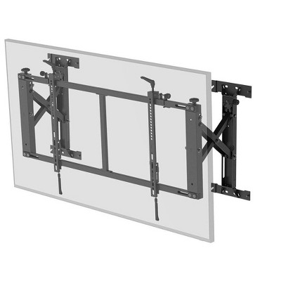 Monoprice Push-to-Pop-Out Wall Mount for 50in to 55in Screens, Max Weight 154 lbs, VESA Patterns up to 800x400 - Commercial Series