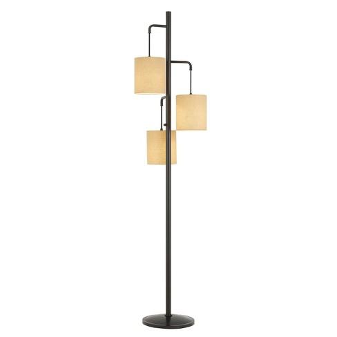 60W X 3 Kirkwall Metallantern Floor Lamp With Fabric Shade (Lamp Only) - Cal Lighting - image 1 of 2