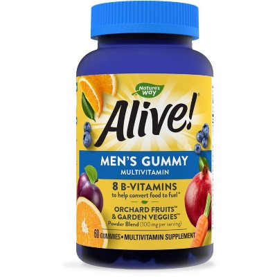 Nature's Way Alive! Men's Gummy Vitamins - Fruit Flavors - 60ct