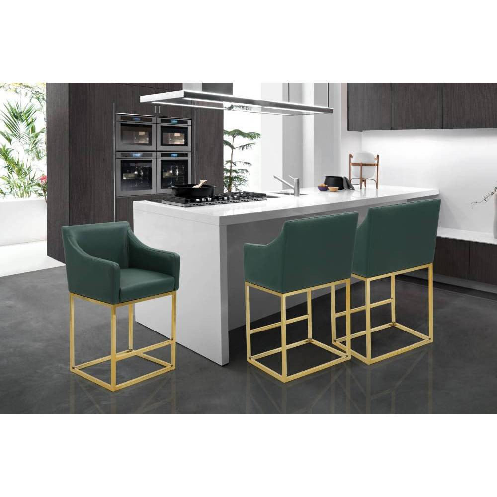 Cordele Counter Stool Green - Chic Home Design was $379.99 now $265.99 (30.0% off)