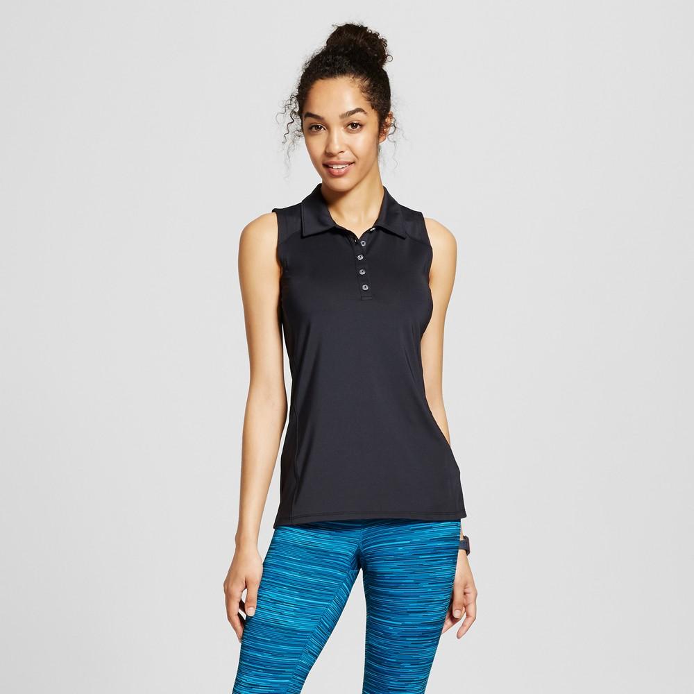Women's Golf Sleeveless Polo Shirt - C9 Champion - Black Xxl