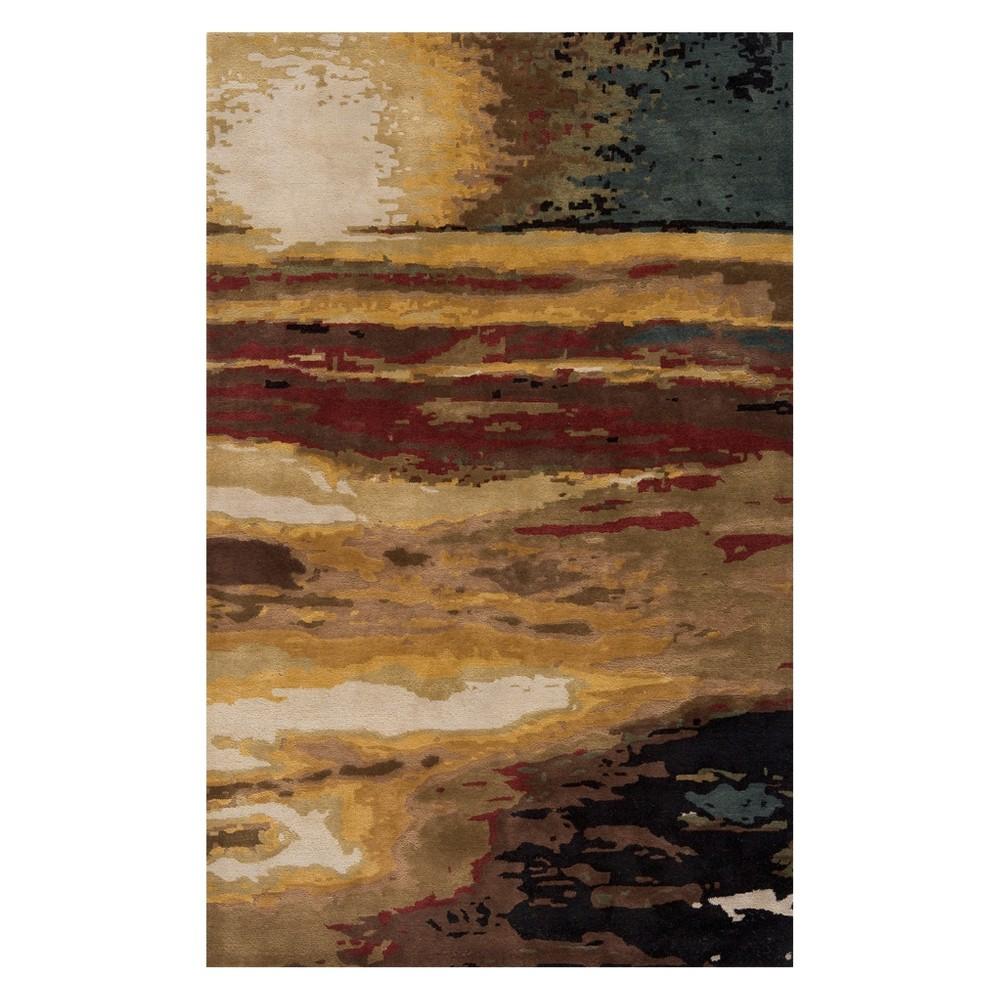 8'X11' Splatter Tufted Area Rug Sunset - Momeni