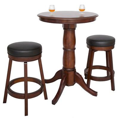Hathaway Oxford 3 Piece Hardwood Pub Table Set   Walnut Finish : Target