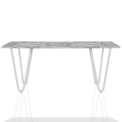 Mulberry Faux Marble Dining Table White Cosmoliving By Cosmopolitan Target