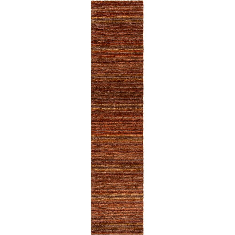2'6X10' Stripe Knotted Runner Red - Safavieh