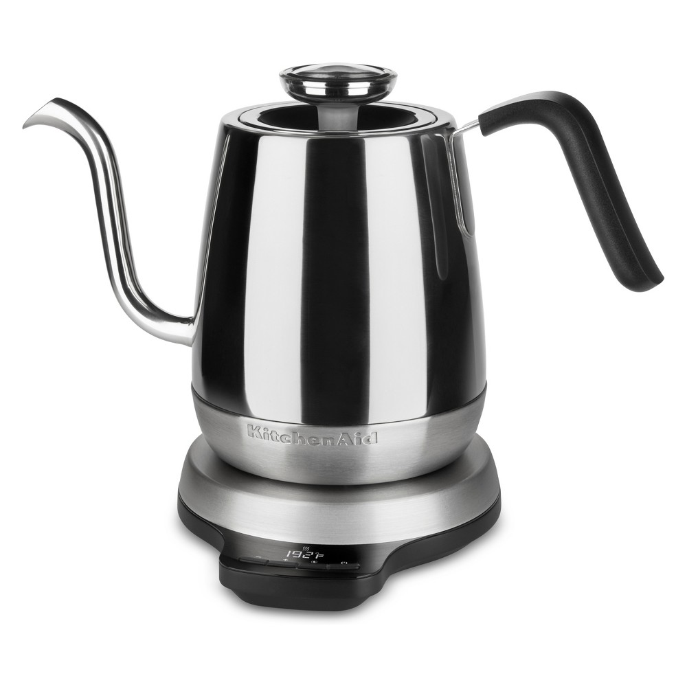 KitchenAid 1L Precision Gooseneck Digital Kettle Stainless Steel (Silver) – KEK1032SS 53751320