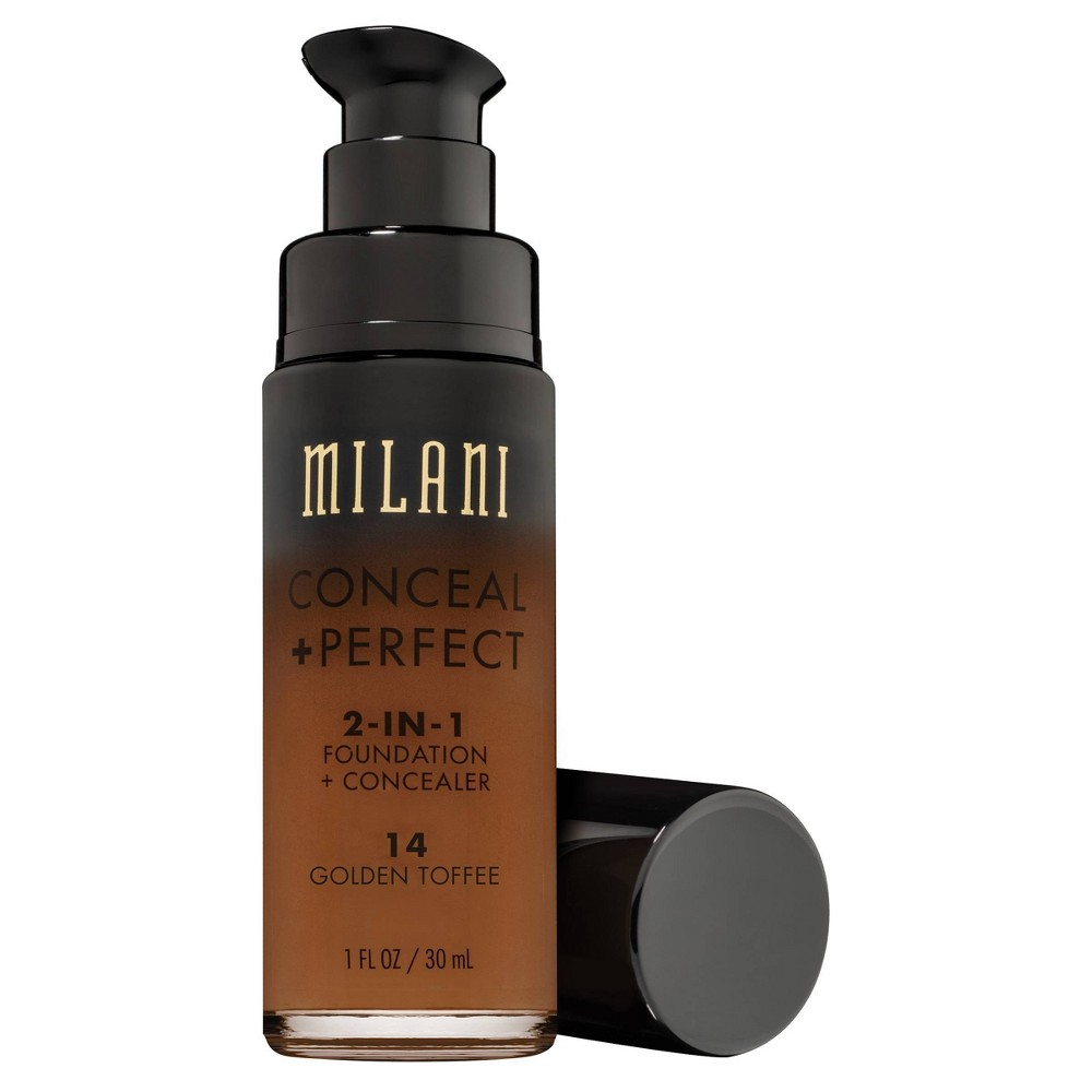 Best Milani Conceal Perfect 2 in 1 Foundation 14 Golden Toffee 1 Fl Oz