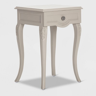 Heston End Table Nightstand with Drawers Gray - Finch