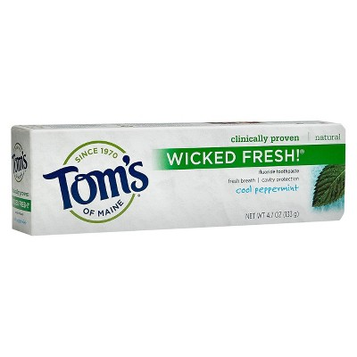 Tom's Of Maine Wicked Fresh Cool Peppermint 4.7oz