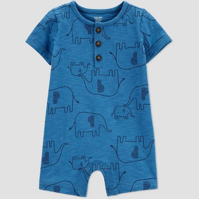 Baby Boys' One Piece Elephant Romper - Just One You® made by carter's Blue 12M