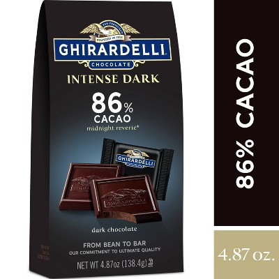 Ghirardelli Intense Dark Midnight Reverie 86% Cacao Chocolate Squares - 4.87oz