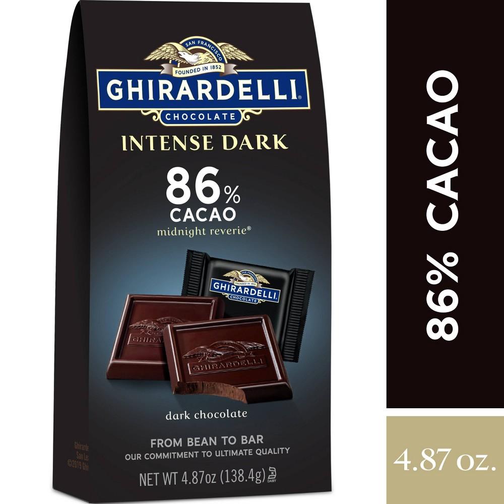 Ghirardelli Intense Dark Midnight Reverie 86 Cacao Chocolate Squares 4 87oz