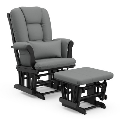 Storkcraft Tuscany Black Glider and Ottoman