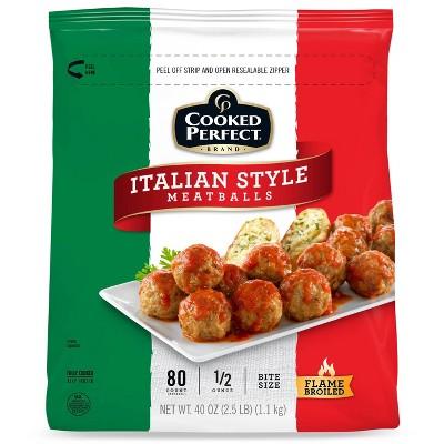 Cooked Perfect Italian Style Meatballs - Frozen - 40oz