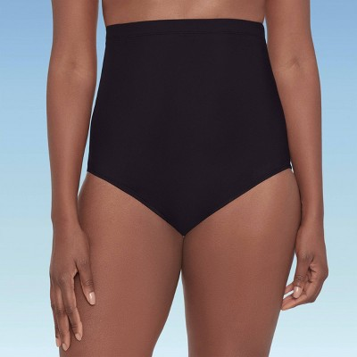 Women's Slimming Control Ultra High Waist Swim Briefs - Dreamsuit by Miracle Brands Black