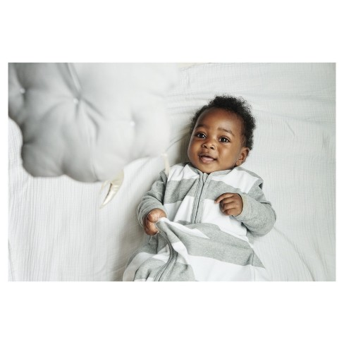 849e8bc1746 Burt s Bees Baby® Beekeeper™ Wearable Blanket Organic Cotton - Rugby  Stripes - Gray. Shop all Burt s Bees Baby