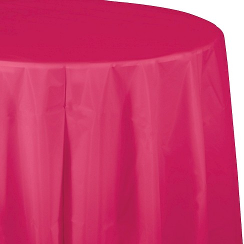Hot Magenta Pink Disposable Tablecloth - image 1 of 1
