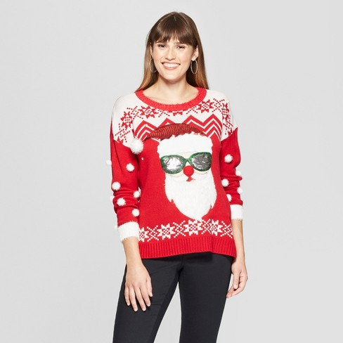Womens Sunglasses Santa Ugly Christmas Sweater 33degrees Target