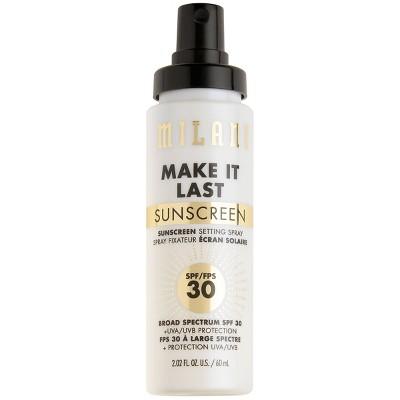 Milani Make It Last Sunscreen Setting Spray SPF 30 - Clear - 2.02 fl oz