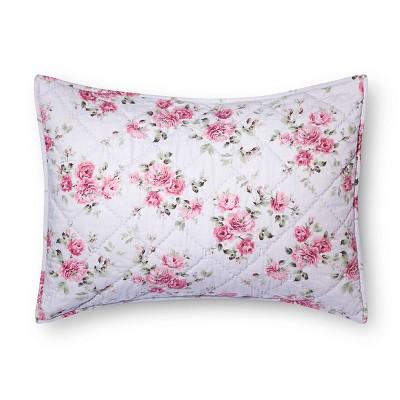 Purple Berry Rose Linen Blend Pillow Sham (King)- Simply Shabby Chic™