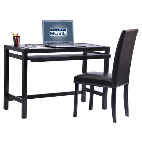 Matching Desk With Keyboard Panel And Chair Set Wenge Techni Mobili