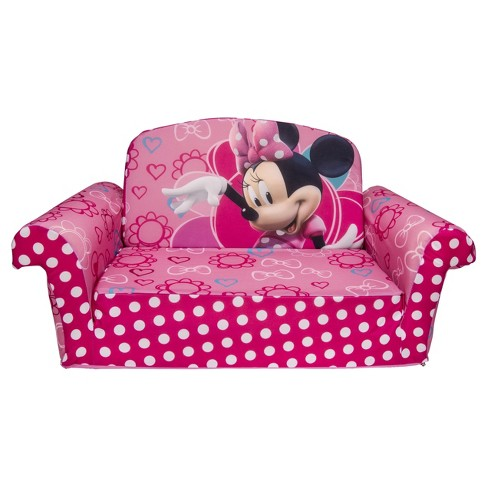Marshmallow Furniture Children's 2 in 1 Flip Open Foam Sofa - Disney Minnie's Bow-tique by Spin Master - image 1 of 4