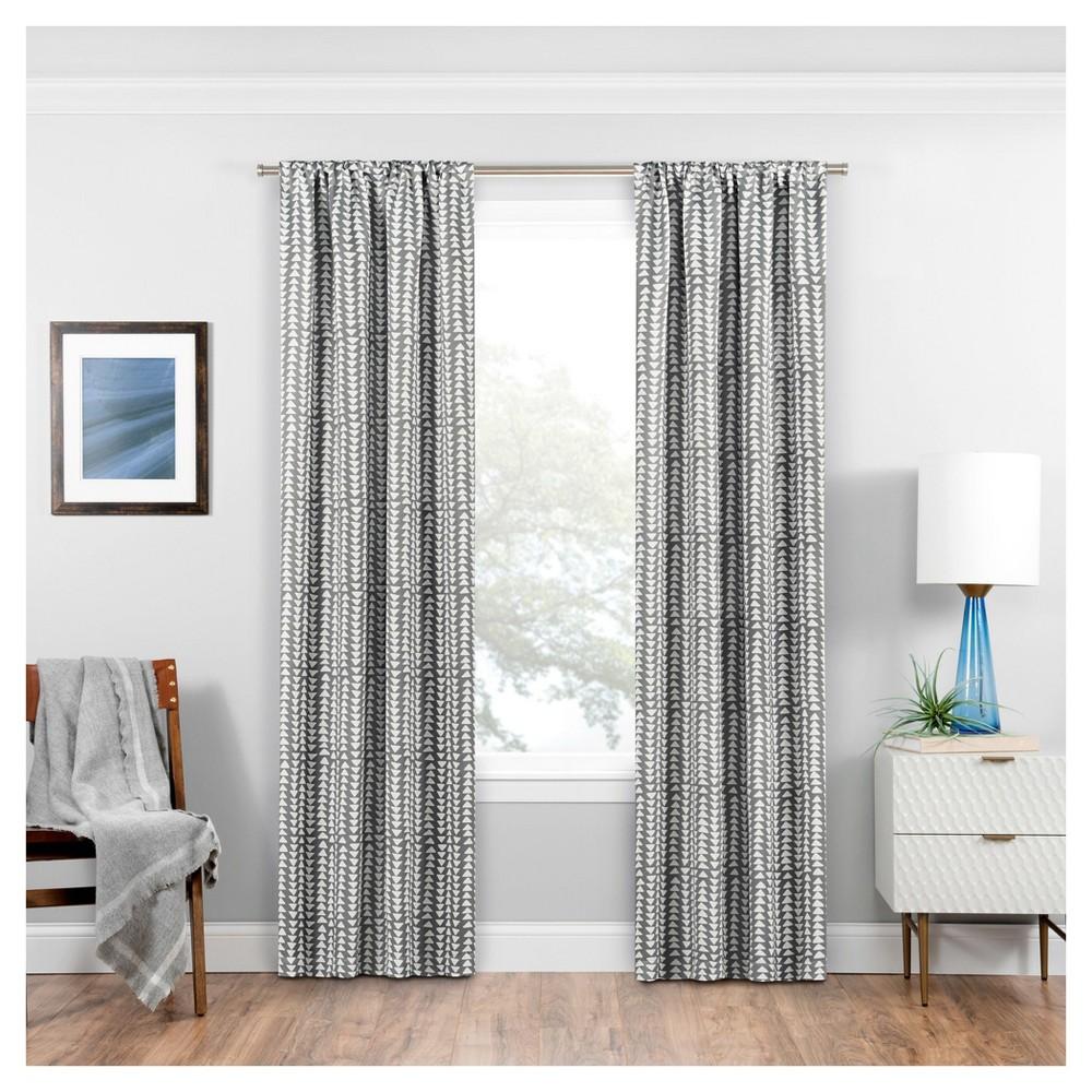 Naya Thermaweave Blackout Curtain Panel Geometric Gray (37