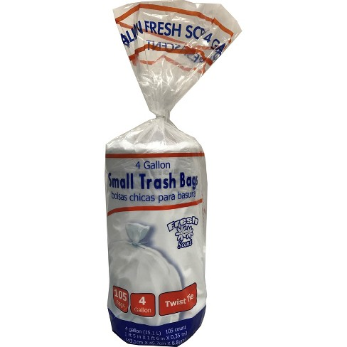 Twist Tie 4gal Fresh Scented Small Trash Bags - 105ct - image 1 of 1
