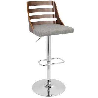 Trevi Mid-Century Modern Adjustable Barstool - LumiSource