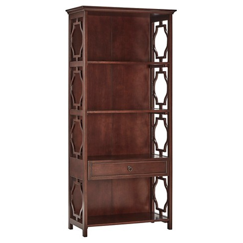 "71"" Beverly Cut Out 1 Drawer Bookshelf - Inspire Q® - image 1 of 8"