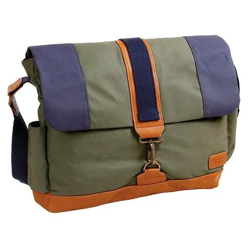 J World Sam Canvas Messenger Bag Khaki