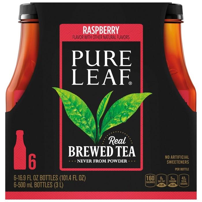 Pure Leaf Raspberry Iced Tea - 6pk/16.9 oz Bottles - image 1 of 4