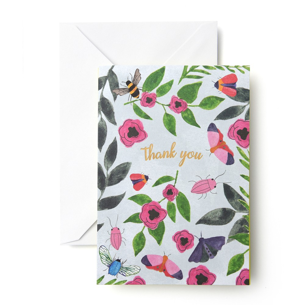 "Image of ""24ct """"Thank You"""" Flower Critters Cards - Mara Mi"""