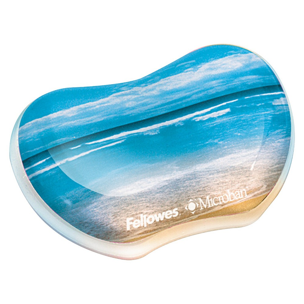 Image of Fellowes Photo Gel Wrist Rest Microban Protection - Sandy Beach