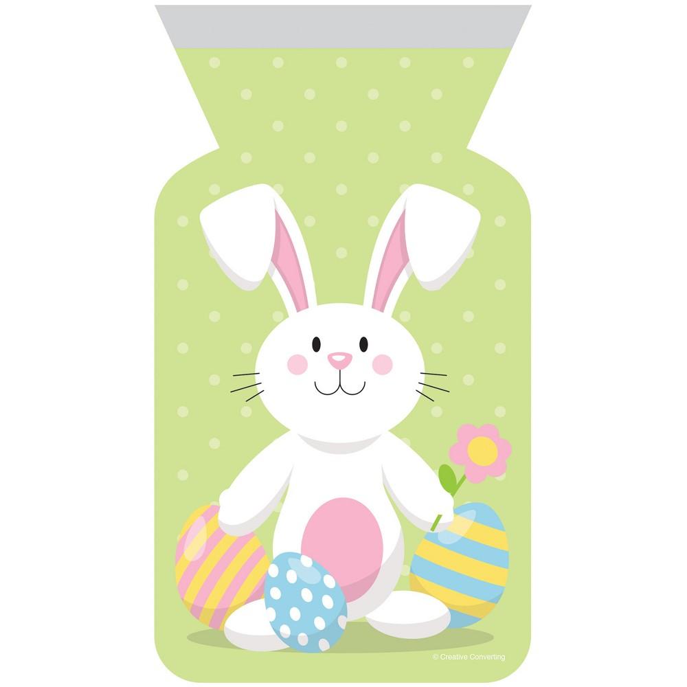 Image of 12ct Easter Bunny Zipper Favor Bag Green