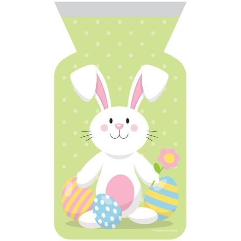 12ct Easter Bunny Zipper Favor Bag Green - image 1 of 1