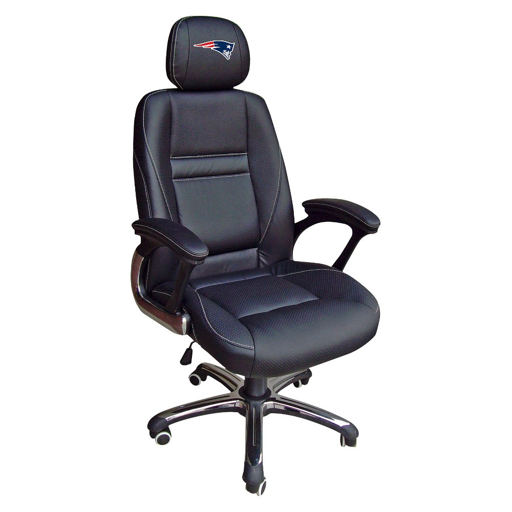 NFL Leather Office Chair New England Patriots