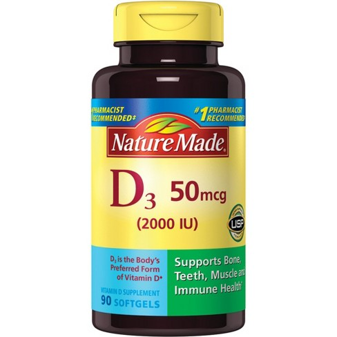 Nature Made Vitamin D3 Dietary Supplement Liquid Softgels - 90ct - image 1 of 3