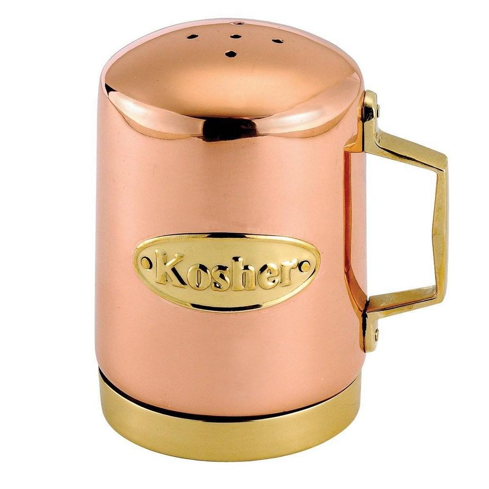 Image of Old Dutch Stainless Steel Kosher Salt Shaker, Brown Gold