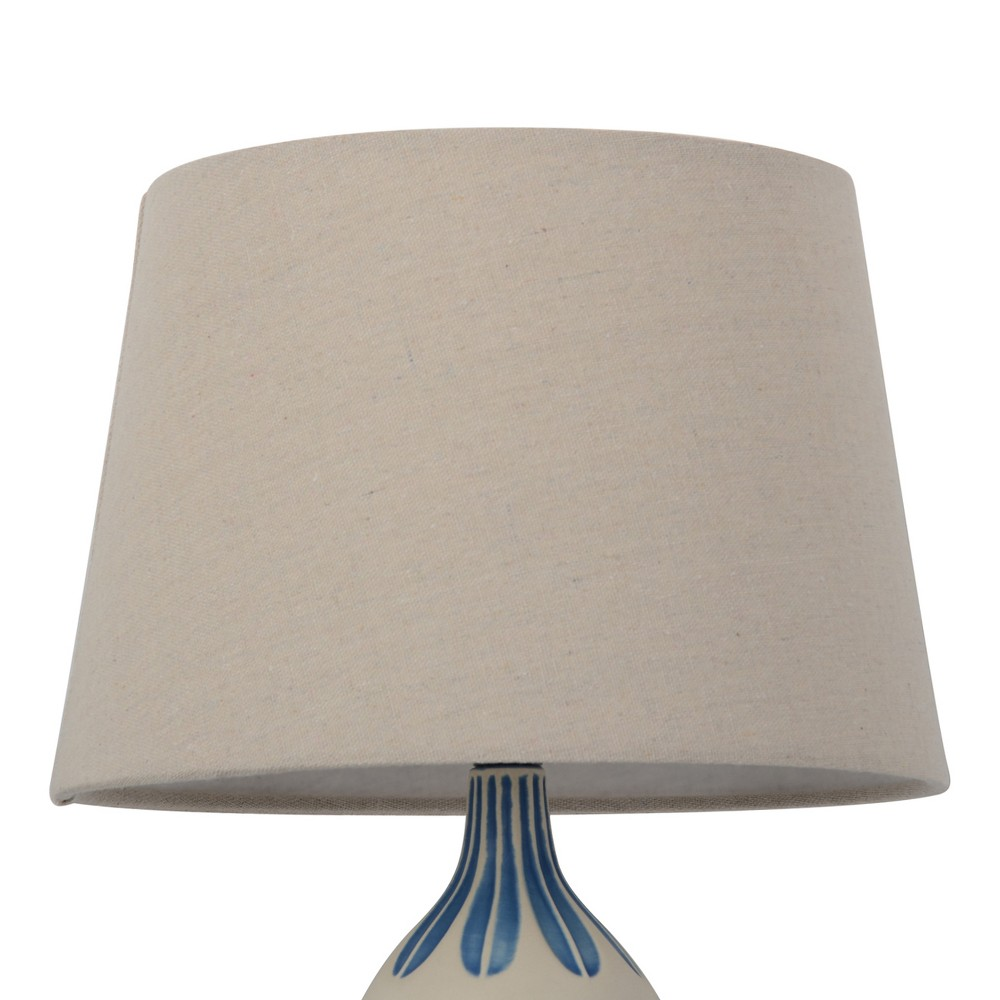 Image of Small Natural Mod Drum Lampshade Linen - Threshold