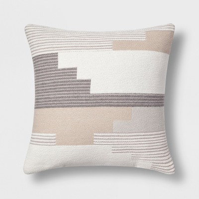 Southwest Geo Square Throw Pillow Gray - Project 62™
