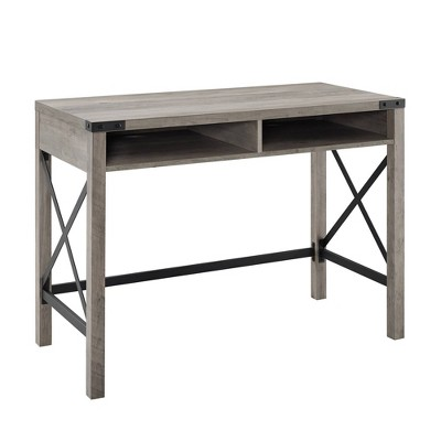 Sophie Urban Industrial X Frame Modern Farmhouse Writing Desk - Saracina Home
