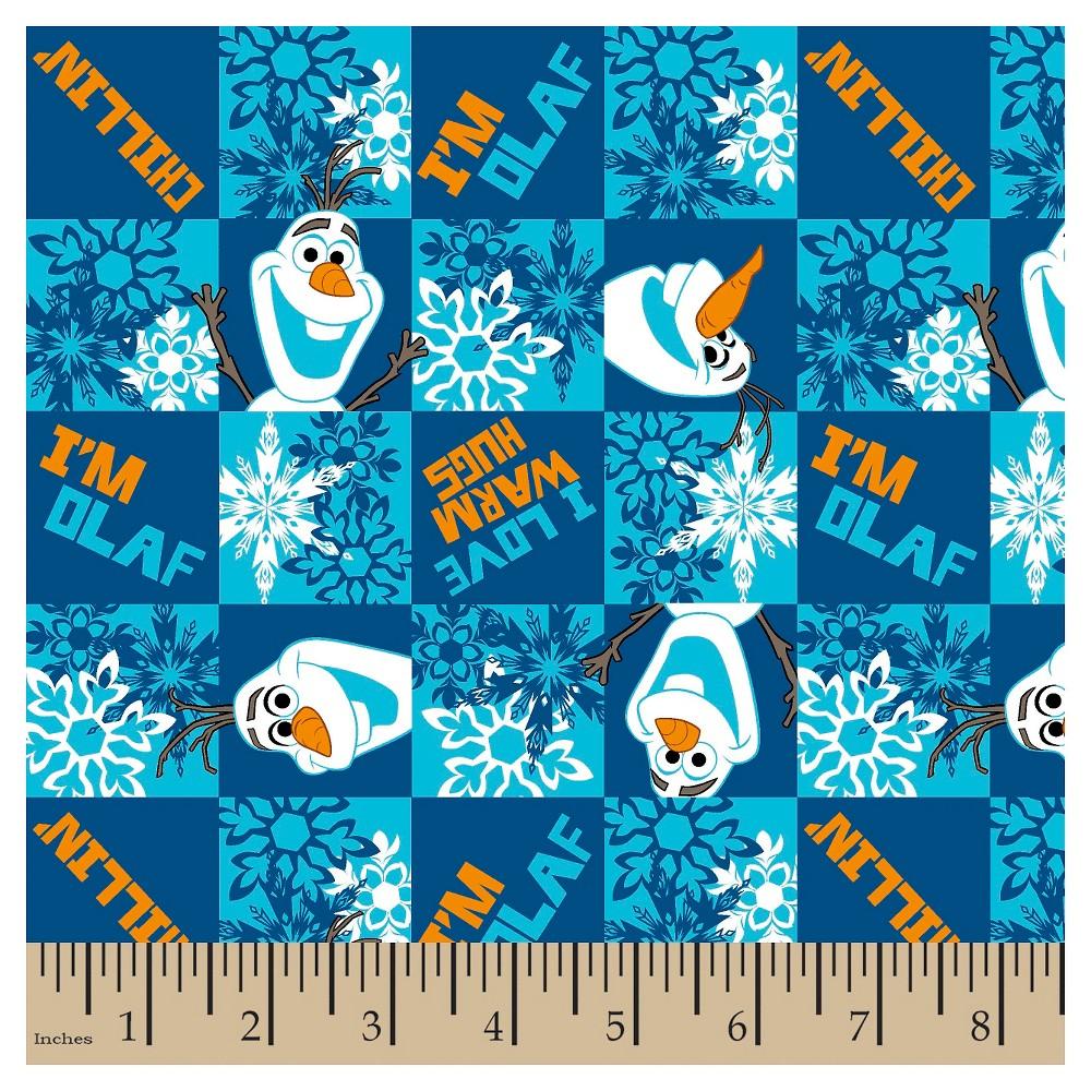 Olaf Chillin Flannel Fabric, Blue