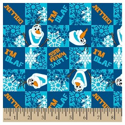 Olaf Chillin Flannel Fabric
